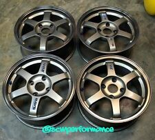 "JDM 16"" VOLK RAYS TE37 Wheels Rims 4x114.3 CB7 Accord ITR H22 B18 GSR Forged"