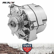 EH HD HR Holden Red 6 Cylinder Proflow Chrome Alternator 100 Amp Internal Reg
