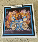 "Handmade Happy Birthday 3D decoupage drums rock star music card 6"" x 6"""