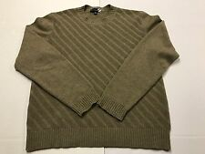 Saks Fifth Avenue Mens Sz Large Taupe Crew Neck 100% Cashmere Sweater