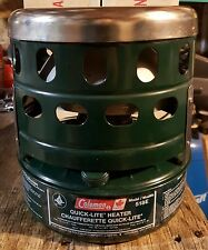 COLEMAN 518E CATALYTIC HEATER GREEN COMPLETE WITH BOX 3000BTU/900 WATTS TESTED