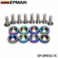 8PCS JDM Aluminum Fender Washers Neo Chrome For Honda Civic Integra Rsx EK EG