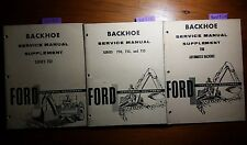 Ford 750 752 753 755 Automated Backhoe Service Manual SE 9358 + S1 + S2
