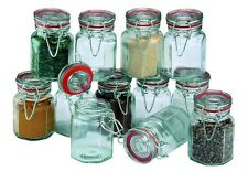 2 x Sets of 12 Apollo Clipseal Glass Spice Jars Spices Herbs Jam Chutney NEW
