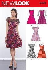 """New look couture motif manque """"robes avec options de structure contraste 10-22 6392"""