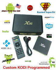X96 KODI 16.1 FULLY PROGRAMMED S905X Android 6.0 TV BOX 4K Movies 2g/16g ROOTED