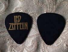 Led Zeppelin Guitar Pick Black With Gold Lettering