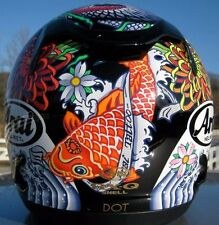 Arai RX-Q 2016 Oriental Black Coy Fish motorcycle helmet Med Lg Ltd Edition