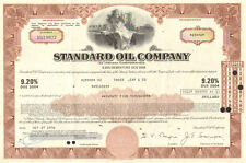 Standard Oil Company   1970's stock bond certificate share