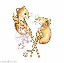 Wild Rose Studio - Clear Rubber Stamps - Harvest Mice - 493 - New Out