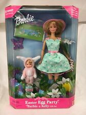 NIB Stunning Easter Egg Party Barbie And Kelly Doll Gift Set 25790