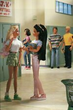 """ School Friends "" Fashion Collectible Photo Card Mattel Barbie Doll Postcard"