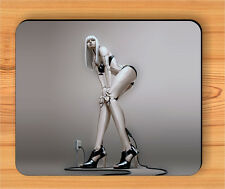 SEXY WOMAN ROBOT MOUSE PAD -ab6t