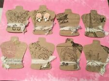BEAUTIFUL Vintage LOOK! EARRING DISPLAY CARDS, earrings cards, jewelry holder