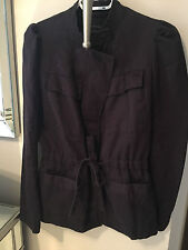 BEAUTIFUL NAVY BLUE French Connection FCUK Military Style Jacket Coat Blazer 2