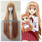 Anime Himouto! Umaru-chan Umaru Doma Cosplay Wig Hair Cos 100cm