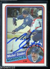 Michel Goulet signed autographed Auto 1984-85 Topps card #129 HOF