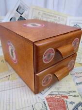 Sajou Fil au Chinoise Wooden Haberdashery Chest Sewing Box- 2 Drawers