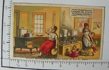 CROWN SEWING MACHINES FLORENCE OIL STOVES FLORENCE MA LADY KITCHEN HANDFAN 1504
