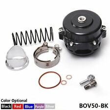 UNIVERSAL 50MM BLACK MONSTER BLOW OFF VALVE BOV TIAL STYLE WITH FLANGE