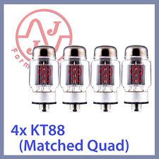 4x JJ Tesla KT88 Vacuum Tubes, Matched Quad TESTED