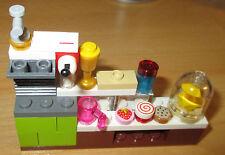 Lego City - Friends - 1x Küchenblock mit viel Zubehör
