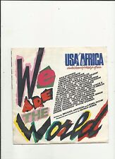 """7 """"  U.S.A. FOR AFRICA   WE ARE THE WORLD"""