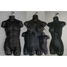 Black Female Dress Male Child Toddler & Plus Size Mannequin Display Body Forms