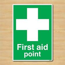 First Aid Point Sign A5 148x210mm Safety Self-adhesive Vinyl Sticker