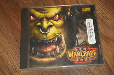 Warcraft III reign of chaos blizzard 2002 pc old game  cd disc cd-rom