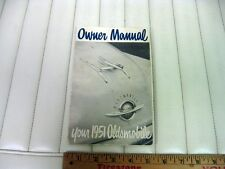 1951 Oldsmobile Car Owners Instruction Manual