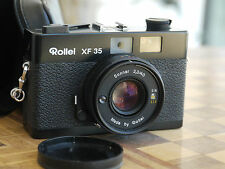 BLACK ROLLEI ROLLEIFLEX XF-35 35mm FILM CAMERA SONNAR 2.3/40mm LENS Excellent!