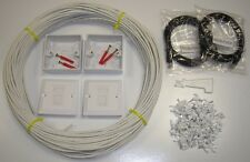 10 MTR interne CAT5e Cat5 Cat 5 Ethernet RJ45 Réseau Domestique Kit, ADSL sky