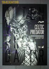 "In Stock! Hot Toys Alien vs. Predator AVP 1/6 Celtic Predator 2.0 Figure 14"" New"