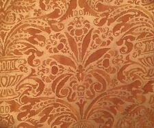 FORTUNY Campanelle rembrandt rust straw silvery gold cotton new pair remnants
