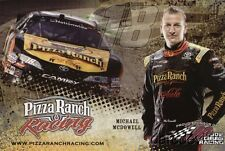 2012 Michael McDowell Pizza Ranch Toyota Camry NASCAR Nationwide postcard