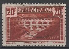 """FRANCE STAMP TIMBRE N°262B """"PONT DU GARD 20F DENTELE 11 """" OBLITERE TB   N543"""
