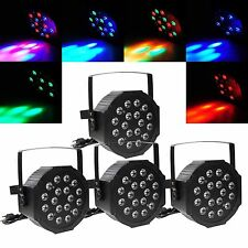4Pcs RGB 54W LED Stage Lighting LED PAR DMX512 Projector Party DJ Disco Lighting