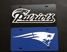 """SET OF 2 New England Patriots NFL 12""""x6"""" Plastic License Plate  """"SPECIAL SALE"""""""
