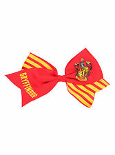 """7"""" Harry Potter GRYFFINDOR Crest Cosplay Cheer Hair Bow Pin Clip Dress-Up NEW"""