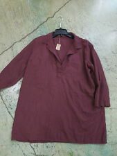 CP SHADES burgundy  COTTON KENDALL  DRESS TUNIC PULLOVER L