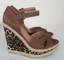 *NEW* Dorothy Perkins Brown & Leopard Wedges Sandals 4 / 37 RRP £32 B2