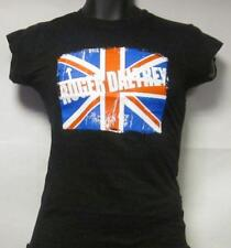 Roger Daltrey The Who(T Shirt)British Flag Black-Ladies-Small-New