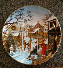 """H. Hargrove Collection Decorative Christmas Plate """"A Time For Giving"""""""