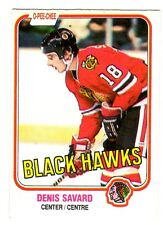1X DENIS SAVARD 1981-82 OPC #63 RC Rookie EXNM O Pee Chee Blackhawks