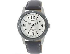 Q&Q Mens Dress Silver Tone Watch Water Resistant Wristwatch Accessory New