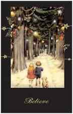 20 CHRISTMAS Kids Hand in Hand TREES Flat 5x7 Cards Envelopes Seals HOLIDAY