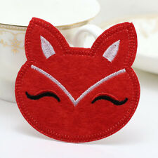 NEW Fabric sticker patch Iron/Sew on Embroidered applique Fox Patterns red color