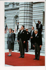 Vintage Postcard Emperor Hirohito of Japan & US President Ronald & Mrs. Reagan