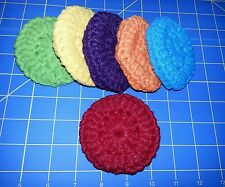 DOUBLE CROCHET SCRUBBIES-6 PUFFY POT SCRUBBERS / DISH &  KITCHEN